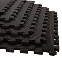 Stalwart 6-pack Black Interlocking EVA Foam Floor Mats