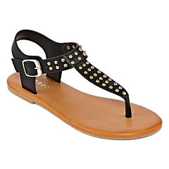 Bamboo Thrive Studded Thong Sandals