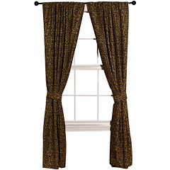 HiEnd Accents San Angelo Leopard Curtain Panel