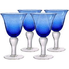Iris Set of 4 Wine Glasses