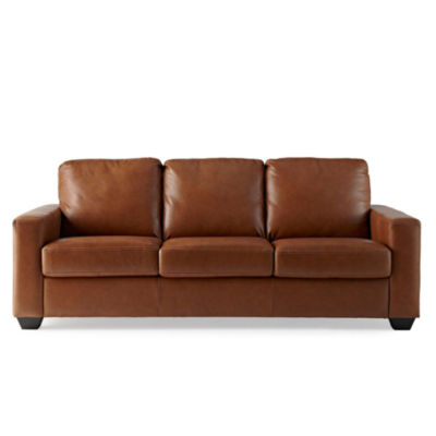 Track-Arm 82'' Leather Sofa, price is as $995 which was originally $2495