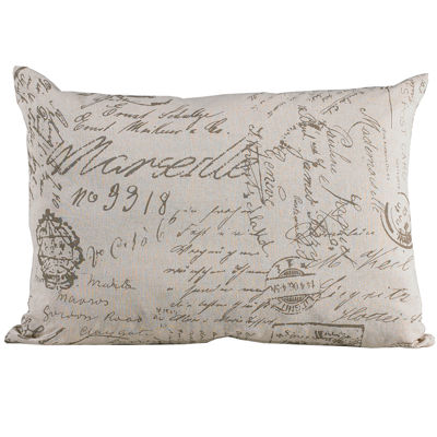 HiEnd Accents Fairfield Oblong Paris Script Decorative Pillow