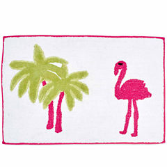 Destinations Flamingo Bath Rug