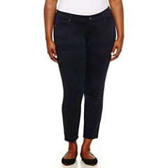 Arizona Skinny Fit Slim Pants-Juniors Plus