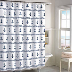 Destinations Anchor Stripe Shower Curtain