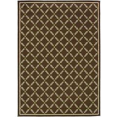 Covington Home Leaf Lattice Indoor/Outdoor Rectangular Rug