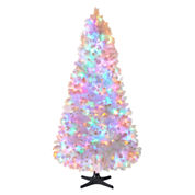North Pole Trading Co. 7.5' Macedon White Pre Lit Tree