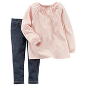 Carter's® 2-pc. Sparkle Pink Gauze Top and Jeggings Set - Toddler Girls 2t-5t