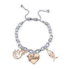 Footnotes Womens Clear Brass Bolo Bracelet