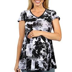 24/7 Comfort Apparel Moonlight Garden T-Shirt-Womens Maternity