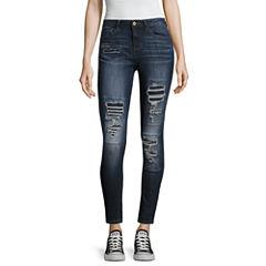 Vanilla Star Destructed Skinny Fit Jeans-Juniors