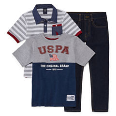 Us Polo SS Pant Set
