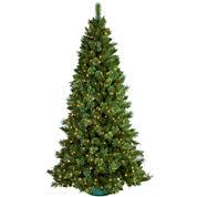 9' Pre-Lit Sheridan Pine Cashmere-Style Clear Lights Christmas Tree
