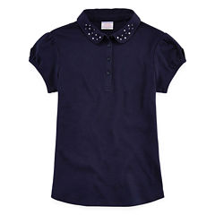IZOD® Short-Sleeve Dazzle-Collar Polo - Girls 7-16 and Plus