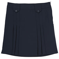 French Toast Solid Woven Pleated Skirt - Preschool Girls
