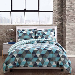 Style 212 Madison Triangles Reversible Comforter Set