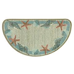 Bacova Guild Classic Berber Star Shell Border Printed Wedge Rugs