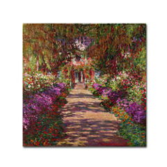 A Pathway in Monet's Garden Canvas Wall Art