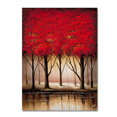 Serenade in Red Canvas Wall Art