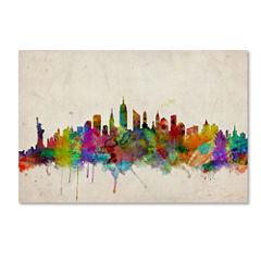 New York Skyline Canvas Wall Art