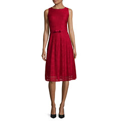 Danny & Nicole® Sleeveless Lace Fit and Flare Dress