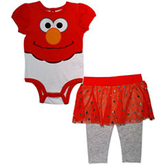 2-pc. Sesame Street Bodysuit Set-Baby Girls