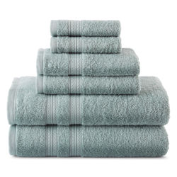 Home Expressions 6-Piece Solid Bath Towel Set in Seven Colors