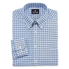 Stafford® Long-Sleeve Wrinkle-Free Oxford Travel Dress Shirt