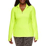 City Streets® Long-Sleeve Mesh-Inset Performance Jacket - Juniors Plus