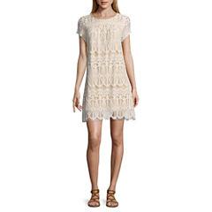 Speechless Short Sleeve A-Line Dress-Juniors