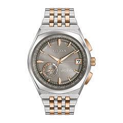 Citizen® Eco-Drive Mens Two Tone Satellite Wave World Time Gps Bracelet Watch   Cc3026-51H