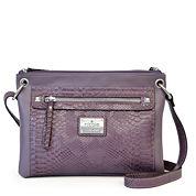nicole by Nicole Miller® Tess Double Zip Crossbody Bag