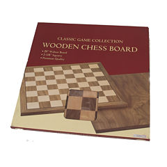 Walnut Wood Chessboard--20 W 2.25 Squares