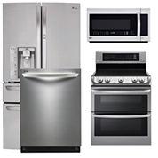 LG 4-Door French Door 4-pc. Kitchen Package