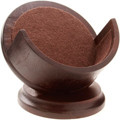 Thirstystone® Dark Walnut-Stained Coaster Holder