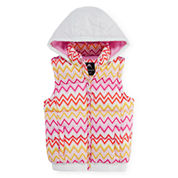 Vertical 9 Hooded Puffer Vest - Girls 7-16