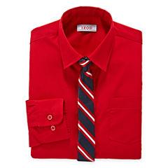 IZOD® Dress Shirt and Clip-On Tie Set - Boys 8-20 and Husky