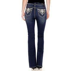 Love Indigo Cross Embellised Back Pocket Bootcut Jean