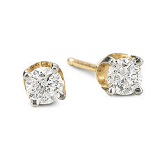 1/2 CT. T.W. Round Diamond Studs 14K Gold