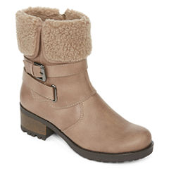 St. John's Bay® Bailyn Faux Shearling Booties