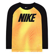 Nike® Dri-FIT Long-Sleeve Wave Striped Top - Toddler Boys 2t-4t