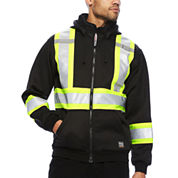 Work King® High Visibility Hooded Jacket - Big & Tall