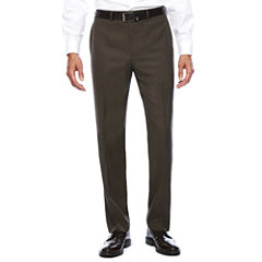 Collection by Michael Strahan Brown Sharkskin Classic Fit Pants
