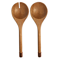 Thirstystone® Urban Farm 2 Pc Mango Wood With Copper Salad Servers