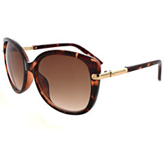 Oleg Cassini Full Frame Cat Eye UV Protection Sunglasses-Womens