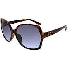 Oleg Cassini Full Frame Rectangular UV Protection Sunglasses-Womens