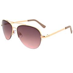 Oleg Cassini Half Frame Round UV Protection Sunglasses-Womens