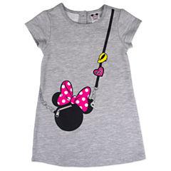 Disney by Okie Dokie Short Sleeve Minnie Mouse A-Line Dress - Preschool Girls