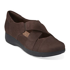 Clarks® Idella Honor Suede Slip-On Shoes