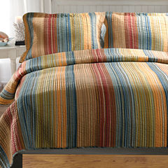 Greenland Home Fashions Katy Stripe Quilt Set & Accessories